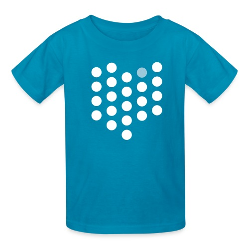Kids' T-Shirt - Cleveland, OH themed abstract dot design from City State Tees. 2 color front print design. Choose your own color shirt! Available in many other styles.