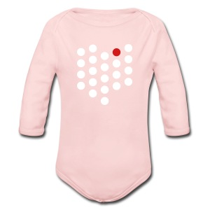 Long Sleeve Baby Bodysuit - Cleveland, OH themed abstract dot design from City State Tees. 2 color front print design. Choose your own color shirt! Available in many other styles.