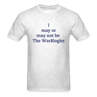 T-Shirts ~ Men's T-Shirt ~ WarBlogler - Blue Text