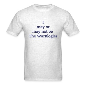 WarBlogler - Blue Text - Men's T-Shirt