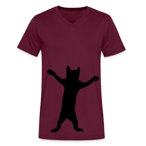 kitty - Men's V-Neck T-Shirt by Canvas