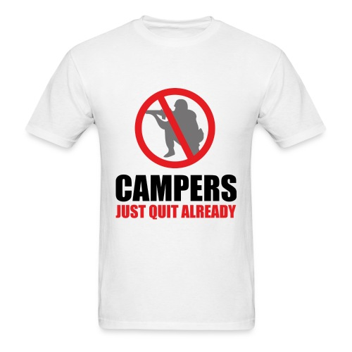 Campers! Just Quit Already! [RG] - Men's T-Shirt