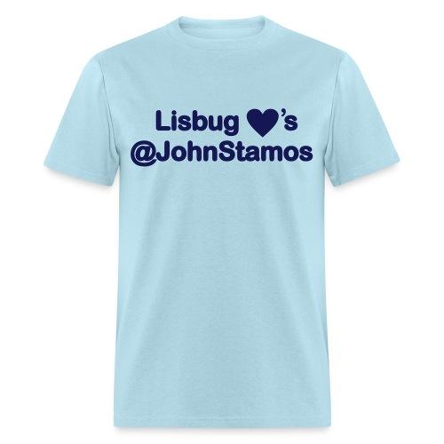 Lisbug Heart's @JohnStamos - Men's T-Shirt