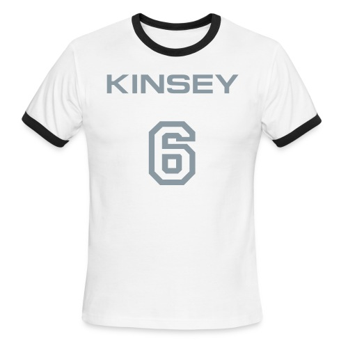 Kinsey 6 Flamer (Metallic Silver) - Men's Ringer T-Shirt
