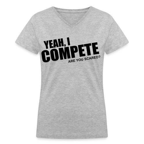 compete - Women's V-Neck T-Shirt