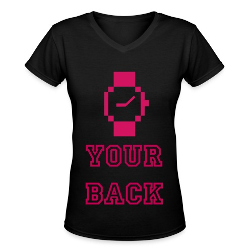 Watch Your Back (Womens V-Neck) - Women's V-Neck T-Shirt