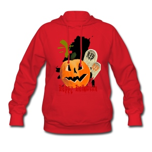 Jack-O-Lantern and Graves - Women's Hoodie
