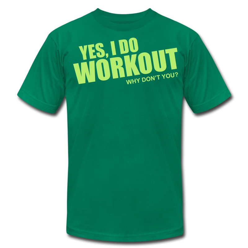 workout - Men's T-Shirt by American Apparel