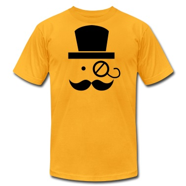 mustache moustache man with eyeglass T-Shirts
