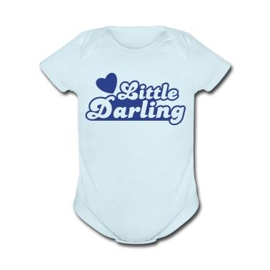 little darling with cute little love heart Baby Bodysuits