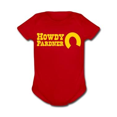 howdy pardner partner welcome! Baby Bodysuits