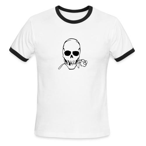 Mens Rose Skull T - Men's Ringer T-Shirt
