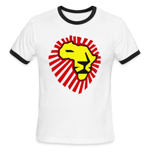 WAKA WAKA Yellow Lion Red Mane T-Shirt - Men's Ringer T-Shirt