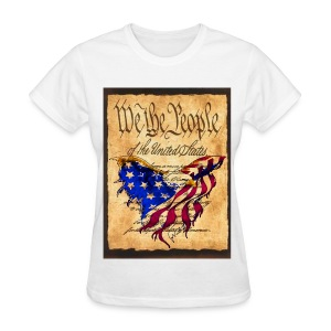 We The People American Eagle Flag Short Sleeve Woman's T-Shirt w/design on Front - Women's T-Shirt