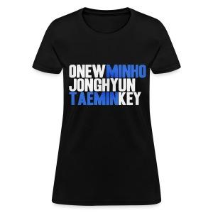 SHINee - Names - Women's T-Shirt