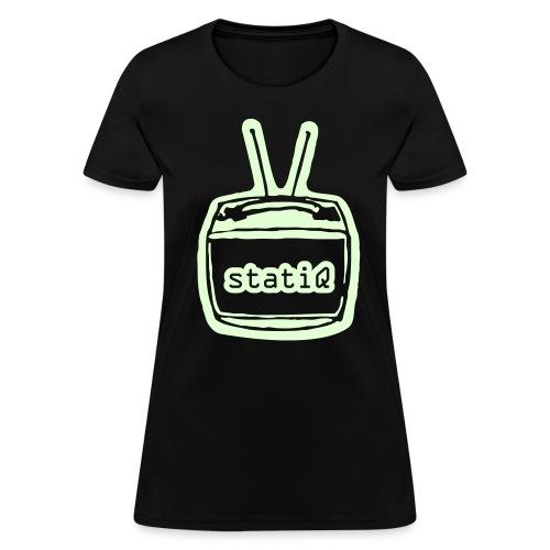 statiQ TV head GLOW-IN-THE-DARK $10 TSHIRT - womens - Women's T-Shirt