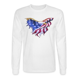 We The People American Eagle Flag Long Sleeve T-Shirt w/design on on front - Men's Long Sleeve T-Shirt
