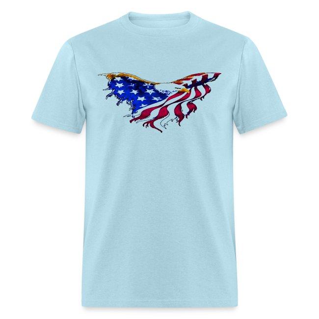 afa096c010 American Flag Eagle Flying Short Sleeve T-shirt | Men's T-Shirt