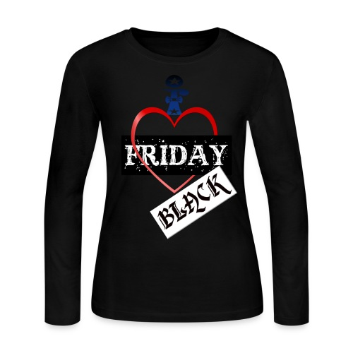 I Love Black Friday - Women's Long Sleeve Jersey T-Shirt