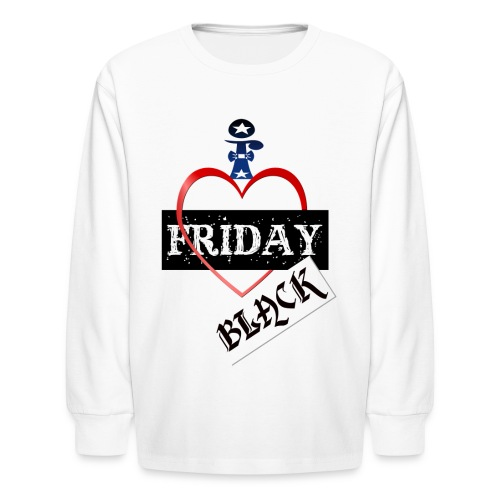 I Love Black Friday - Kids' Long Sleeve T-Shirt