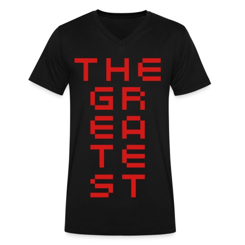 The Greatest - Men's V-Neck T-Shirt by Canvas