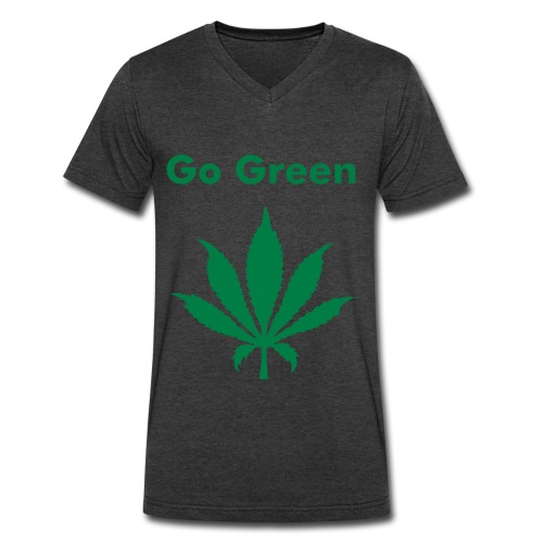Go Green - Men's V-Neck T-Shirt by Canvas