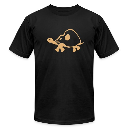 tortoise skull - Men's T-Shirt by American Apparel