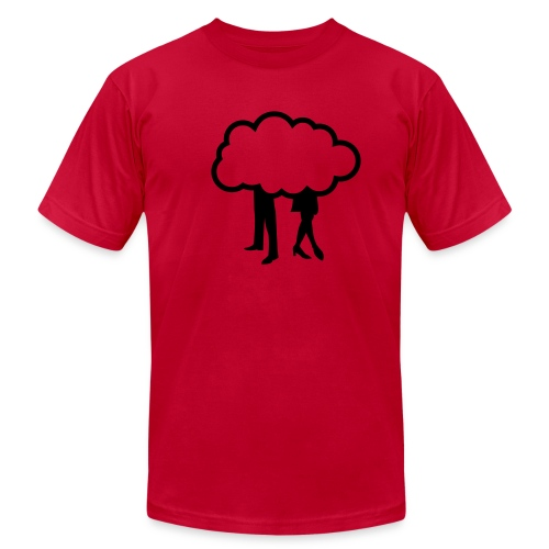 cloudy relationship - Men's T-Shirt by American Apparel