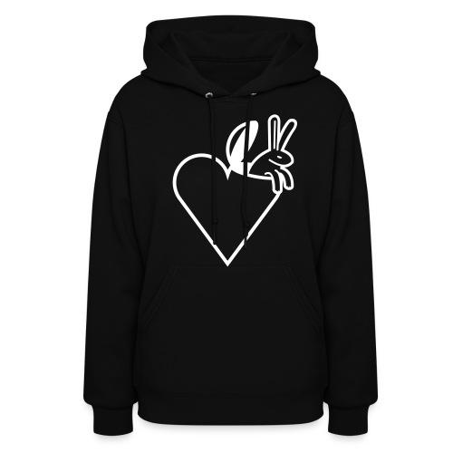 bunny love women's hoodie - Women's Hoodie