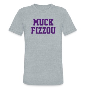 LSU says Muck Fizzou - heather - Unisex Tri-Blend T-Shirt by American Apparel