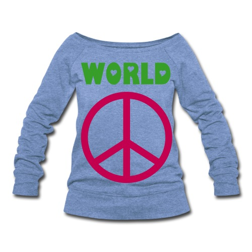 World Peace Wideneck Sweatshirt - Women's Wideneck Sweatshirt