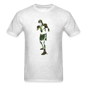 T-Shirley Men's Standard Weight T-Shirt with The Camouflage Boxer - Men's T-Shirt