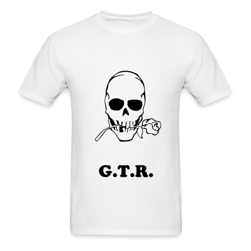 G.T.R. White/Black Lettering - Men's T-Shirt