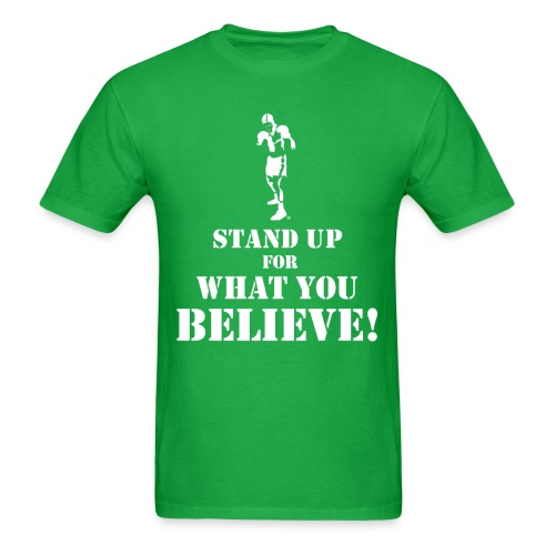 T-Shirley Men's  Stand Up For What You Believe! with The Boxer  - Men's T-Shirt