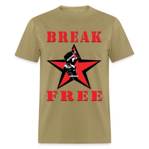 T-Shirley Men's  Break Free with Revolutionary Shirley Levi  - Men's T-Shirt