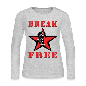 T-Shirley Women's  Break Free with Revolutionary Shirley Levi  - Women's Long Sleeve Jersey T-Shirt