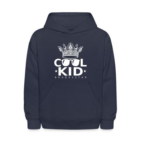 KIDS Crowned Cool Kid Hoodie White - Kids' Hoodie