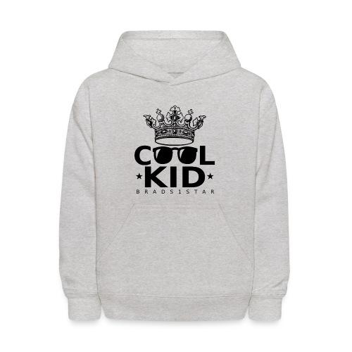 KIDS Crowned Cool Kid Hoodie Black - Kids' Hoodie