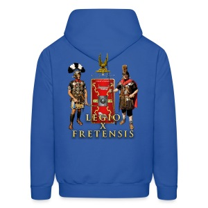 Legio X Fretensis Hooded Sweatshirt - Back Placement - Men's Hoodie