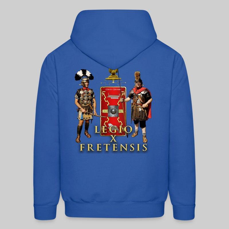 Legio X Fretensis Hooded Sweatshirt - Back Placement - Men's Hoodie