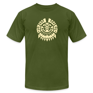 $ Mayan Tribal Face VECTOR T-Shirts