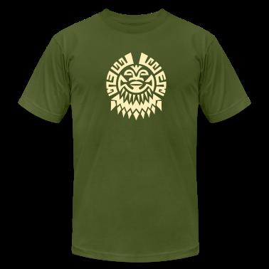 $ Mayan Tribal Face VECTOR T-Shirts