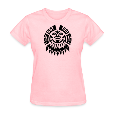 $ Mayan Tribal Face VECTOR Women's T-Shirts