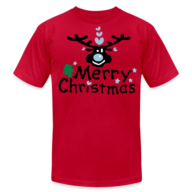 merry_christmas_txt_tree_vec3 T-Shirt