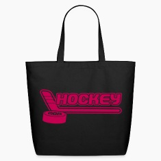 Hockey Mom (Stick & Puck Design) Bags