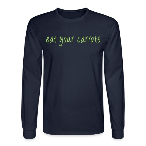 Shirt for Mal - Eat Your Carrots - Men's Long Sleeve T-Shirt