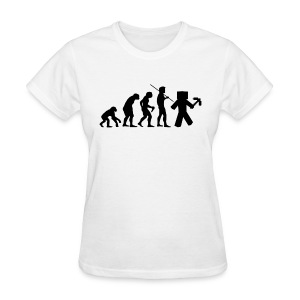 Ladies Tee: Minecraft Evolution Black - Women's T-Shirt