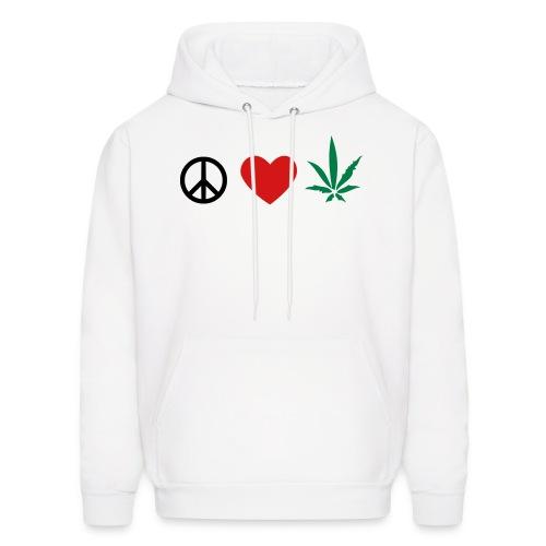 peace n love - Men's Hoodie