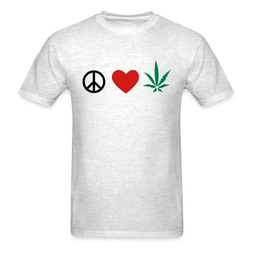 peace n love  - Men's T-Shirt