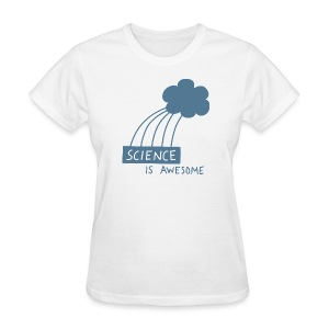Science is Awesome - steel blue graphic - Women's T-Shirt